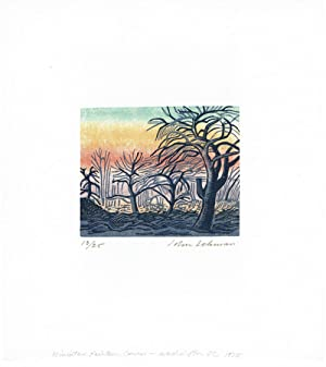 A COLLECTION OF 6 COLOR AND 2 BLACK & WHITE SIGNED LIMITED EDITION WOODCUTS BY JOHN LEHMAN OF THE...