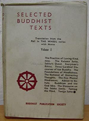 Selected Buddhist Texts from the PALI Canon: various authors