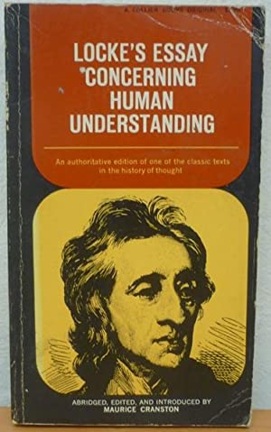 Lockes Essay Concerning Human Understanding Locke John
