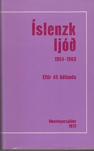 Íslenk Ljóð 1954-1963: Guðmundsson, Gils, ritstjóri