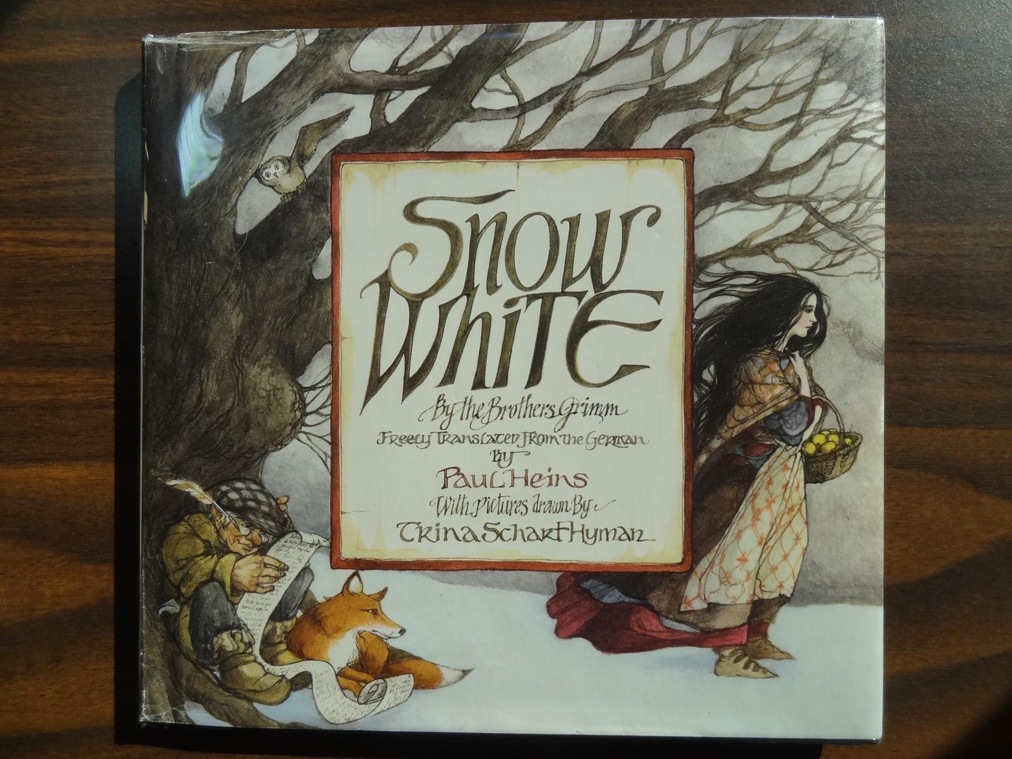 Snow White Book Cover : Snow white by brothers grimm heins paul hyman trina