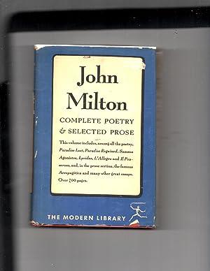 John Milton Complete Poetry & Selected Prose: Milton, John