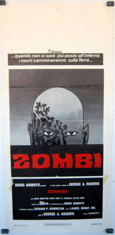 DAWN OF THE DEAD MOVIE POSTER/ZOMBI/LOCANDINA