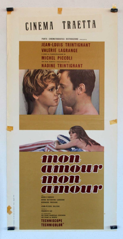 MON AMOUR, MON AMOUR MOVIE POSTER/MON AMOUR, MON AMOUR/LOCANDINA MON AMOUR, MON AMOUR - 1967, Dir: NADINE TRINTIGNANT, Cast: JEAN LOUIS TRINTIGNANT, Valérie Lagrange, Annie Fargue, , Nac. film: FRANCIA, Company: , D