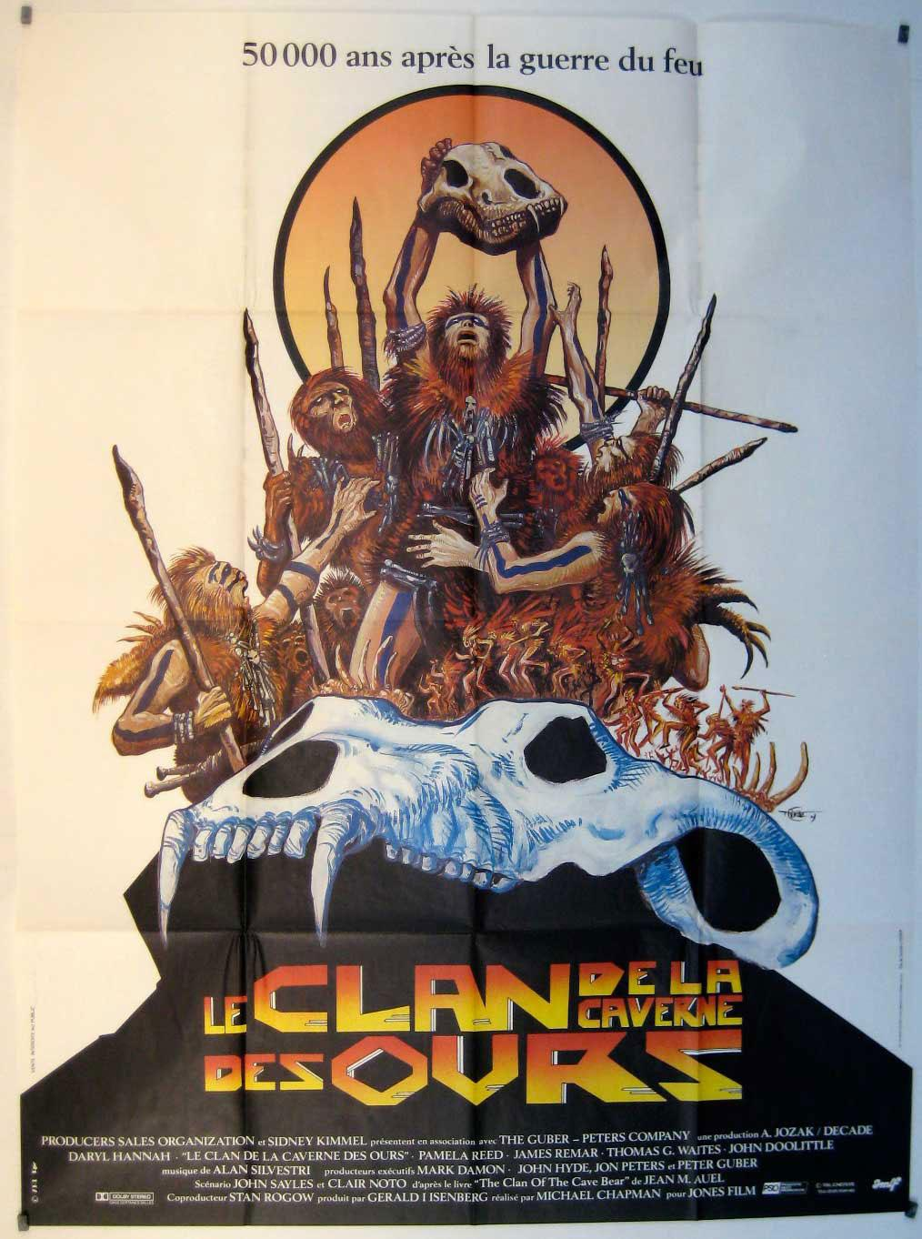 Vialibri The Clan Of The Cave Bear Movie Poster Le Clan De La