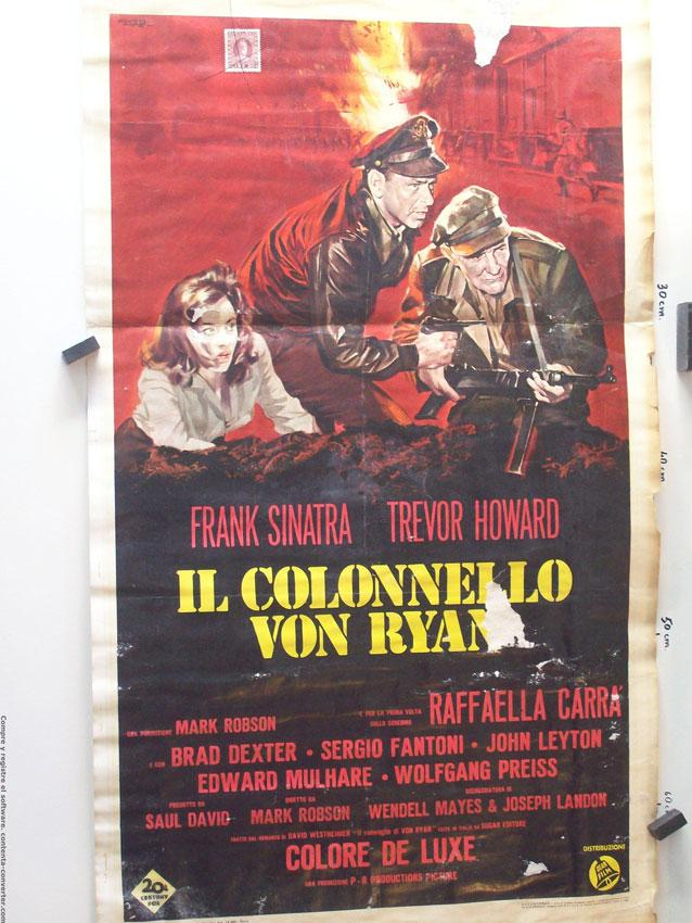 VON RYAN?S EXPRESS MOVIE POSTER/IL COLONNELLO VON RYAN/LOCANDINA