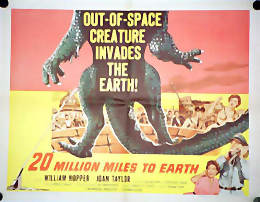 20 MILLION MILES TO EARTH MOVIE POSTER/20 MILLION MILES TO EARTH/POSTER 1/2 SH.