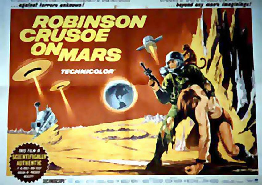 ROBINSON CRUSOE ON MARS MOVIE POSTER/ROBINSON CRUSOE ON MARS/POSTER 1/2 SH.