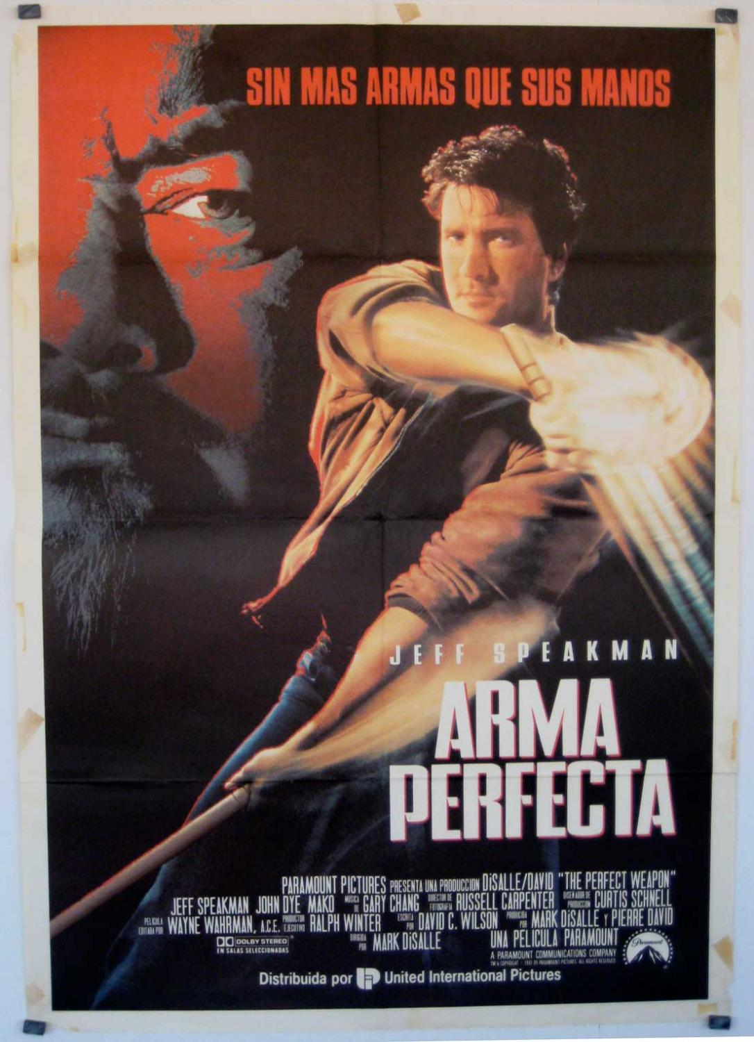 The Perfect Weapon MOVIE POSTER/ARMA PERFECTA/POSTER