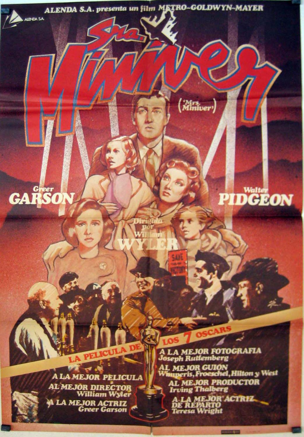 MRS. MINIVER re MOVIE POSTER/SRA. MINIVER/POSTER