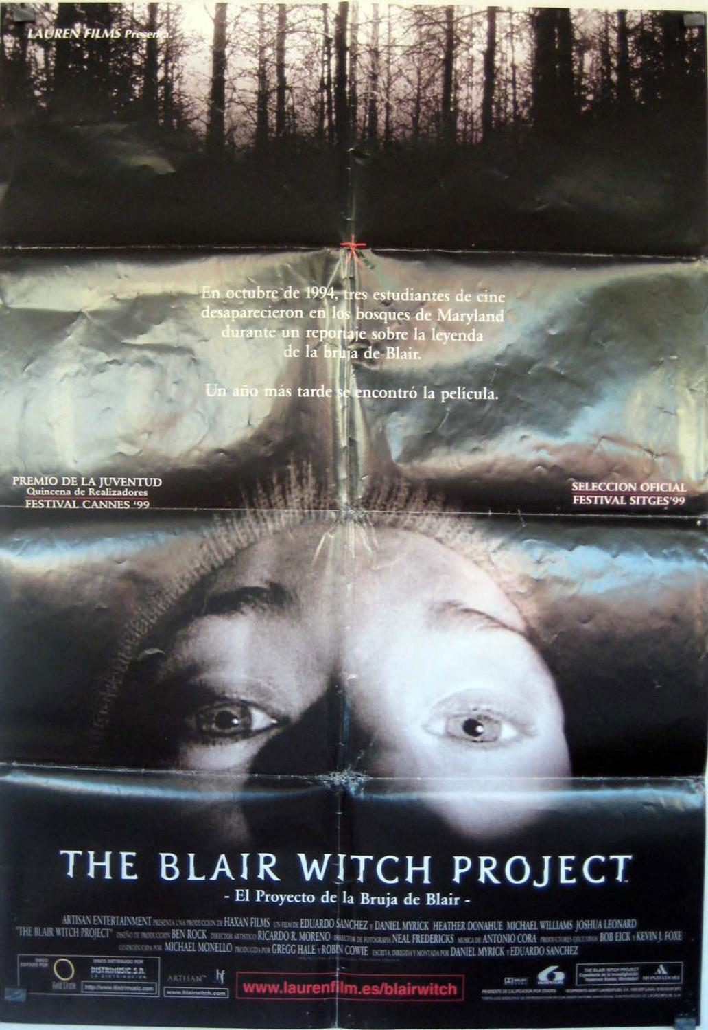 THE BLAIR WITCH PROJECT MOVIE POSTER/THE BLAIR WITCH PROJECT/POSTER