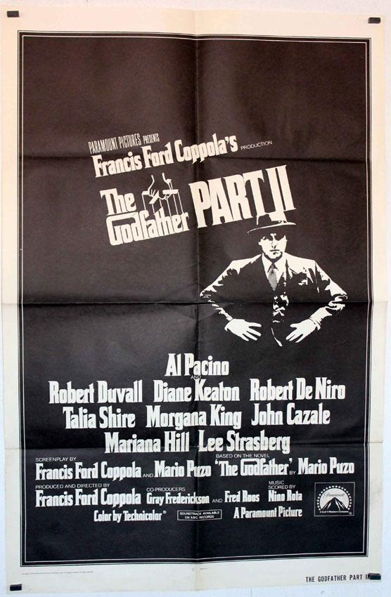 THE GODFATHER II MOVIE POSTER/THE GODFATHER PART II/POSTER