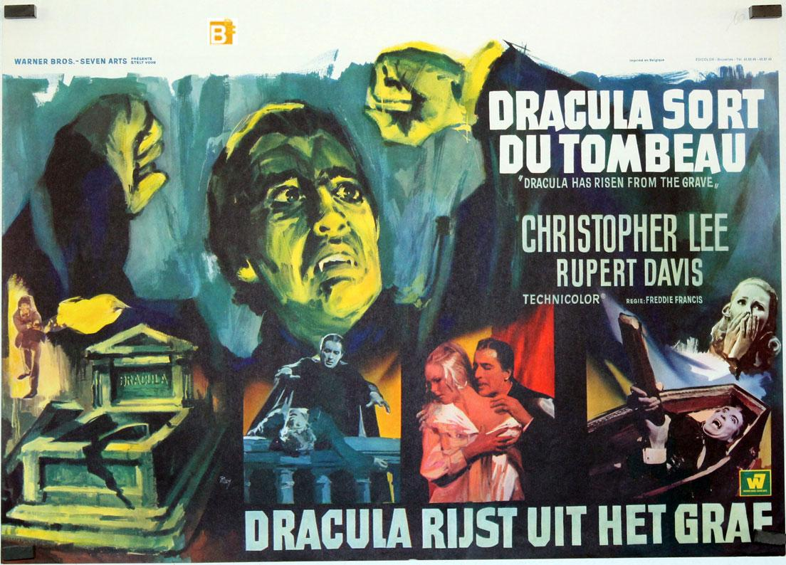 DRACULA HAS RISEN FROM THE GRAVE MOVIE POSTER/DRACULA SORT DU TOMBEAU/POSTER