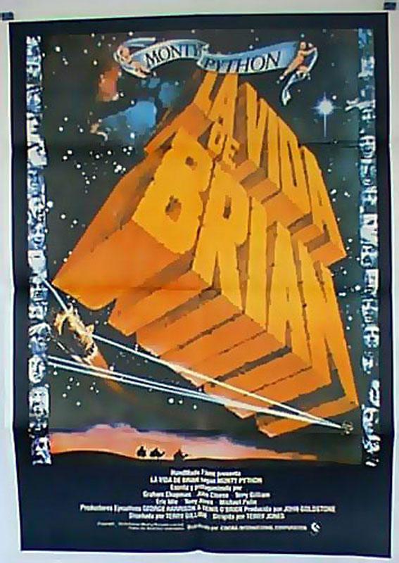 LIFE OF BRIAN MOVIE POSTER/VIDA DE BRIAN, LA/POSTER
