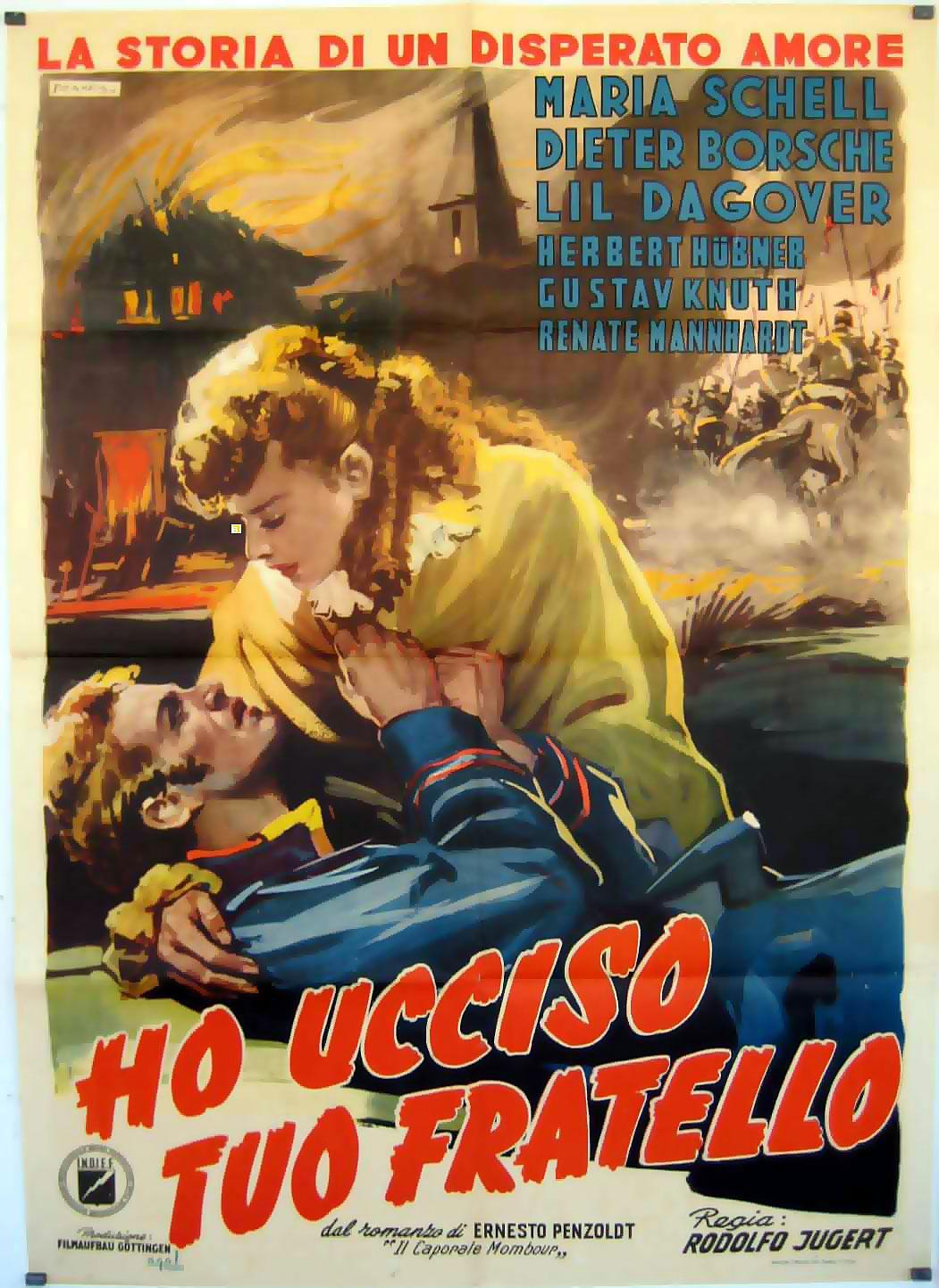 ES KOMMT EIN TAG MOVIE POSTER/HO UCCISO TUO FRATELLO/POSTER HO UCCISO TUO FRATELLO - 1950, Dir: RODOLFO JUGERT, Cast: MARIA SCHELL, DIETER BORSCHE, LIL DAGOVER, , , Nac. film: ALEMANIA, Company: , Designer: , ,