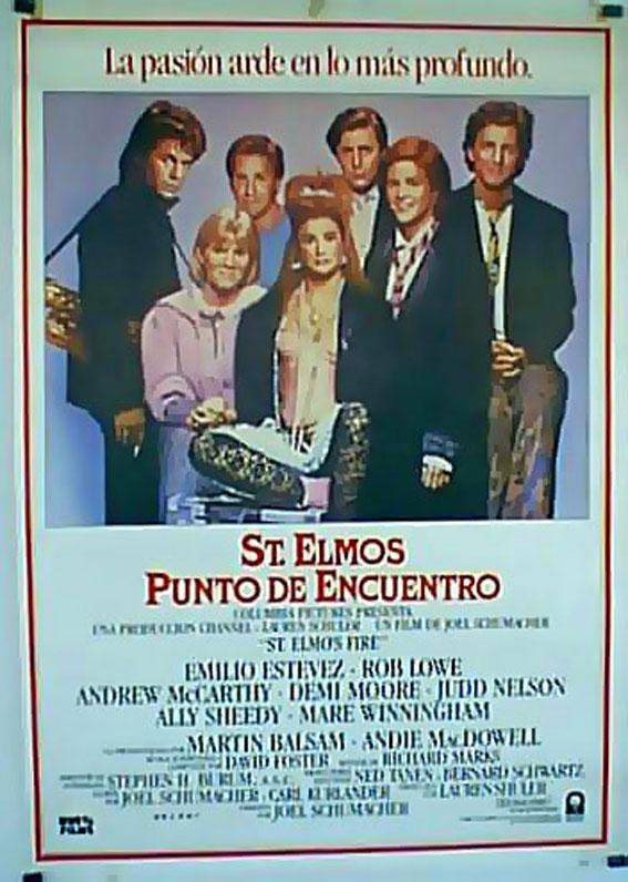 ST. ELMOS FIRE MOVIE POSTER/ST. ELMOS, PUNTO DE ENCUENTRO/POSTER