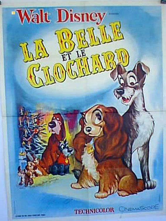 Vialibri Lady And The Tramp Movie Poster Belle Et Le Clochard La Poster