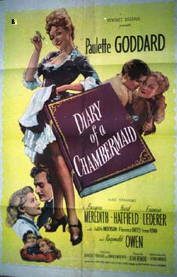 DIARY OF A CHAMBERMAID MOVIE POSTER/DIARY OF A CHAMBERMAID/POSTER