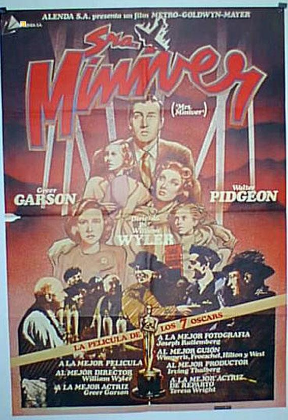 MRS. MINIVER res MOVIE POSTER/SRA. MINIVER/POSTER