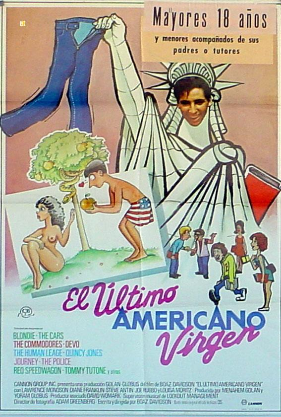THE LAST AMERICAN VIRGIN MOVIE POSTER/ULTIMO AMERICANO VIRGEN, EL/POSTER