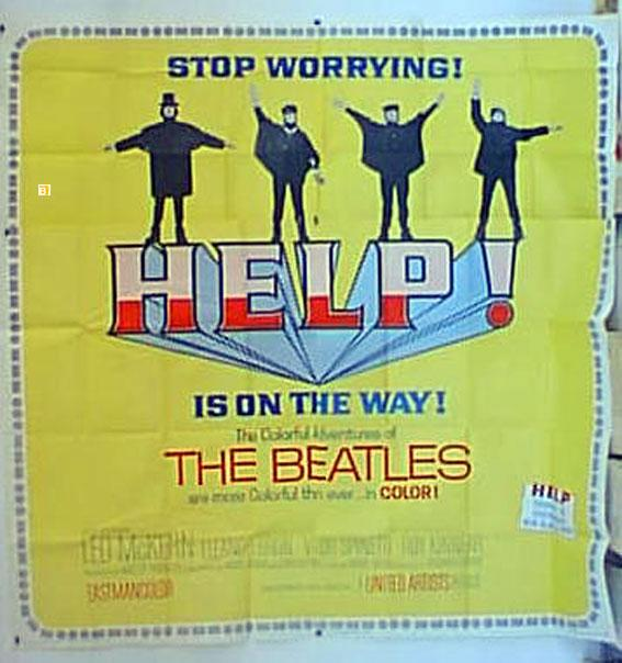 HELP!/HELP IS ON THE WAY/POSTER   [ ]   HELP IS ON THE WAY - 1965Dir RICHARD LESTERCast: THE BEATLESPAUL McCARTNEYRINGO STARRJOHN LENNONGEORGE HARRISONUSA - -205x205-Cm.-81x81-In.-6 SH.POSTER