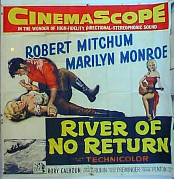 RIVER OF NO RETURN MOVIE POSTER/RIVER OF NO RETURN/POSTER