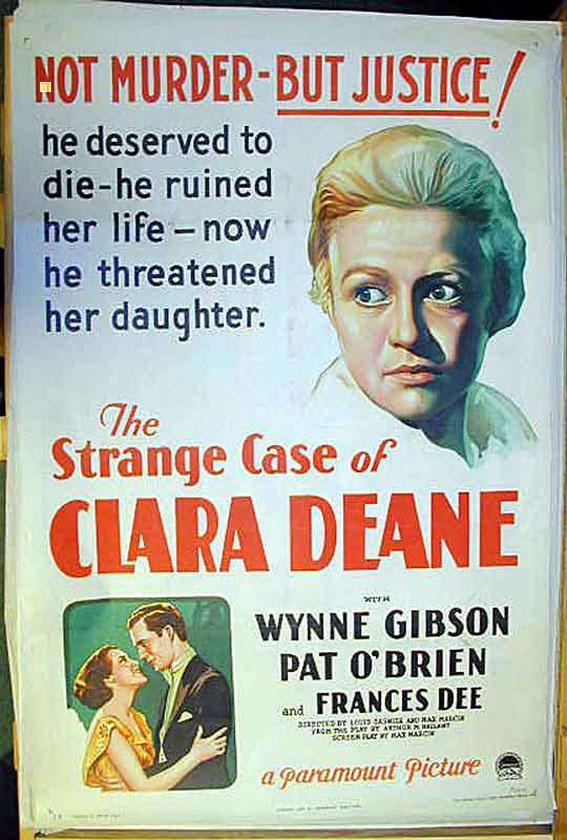 THE STRANGE CASE OF CLARA DEANE MOVIE POSTER/STRANGE CASE OF CLARA DEANE, THE/POSTER