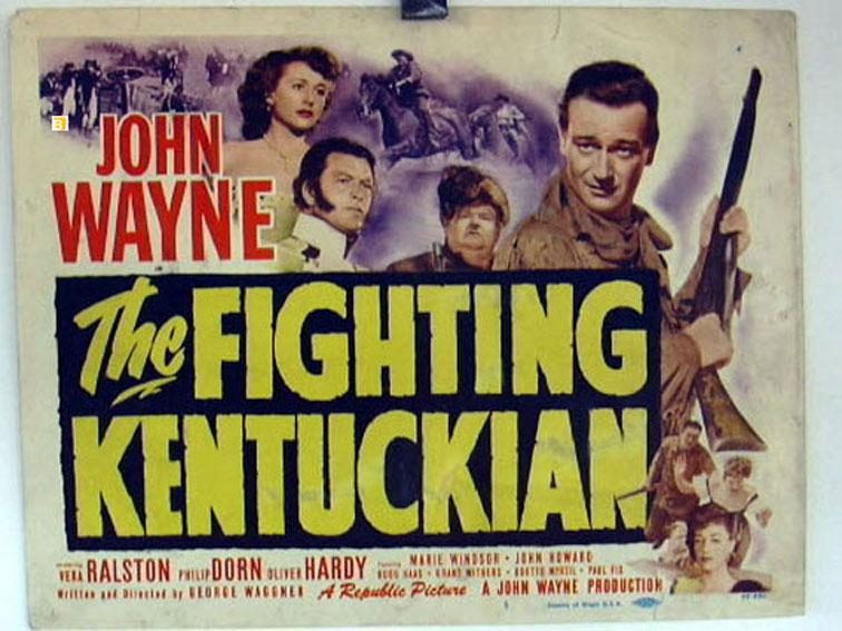 THE FIGHTING KENTUCKIAN MOVIE POSTER/FIGHTING KENTUCKIAN, THE/US LOBBY CARD