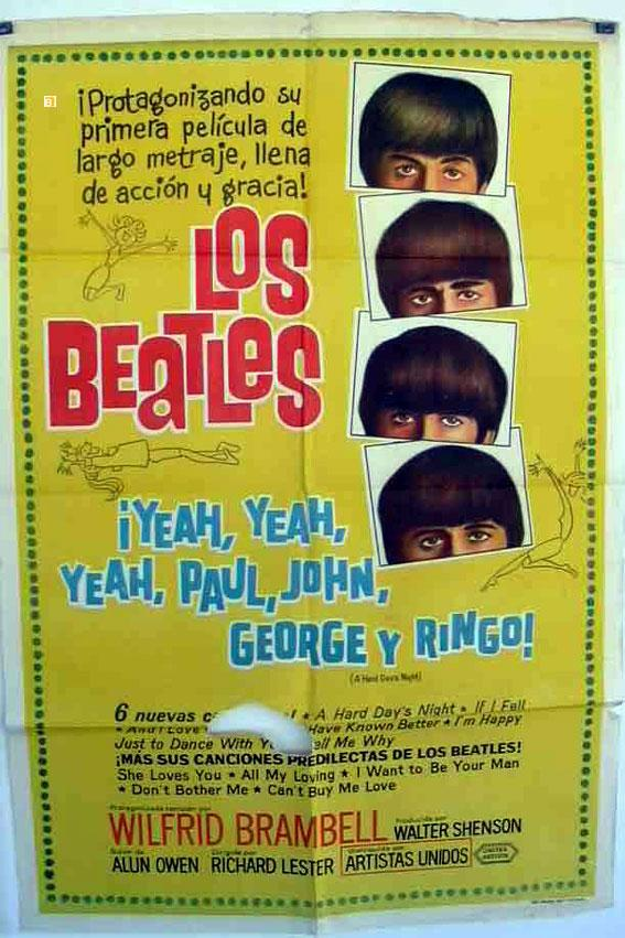 A HARD DAY?S NIGHT MOVIE POSTER/BEATLES, LOS