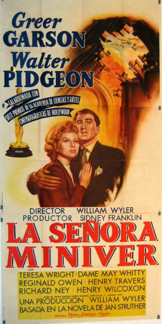 MRS. MINIVER MOVIE POSTER/SEÑORA MINIVER, LA/POSTER