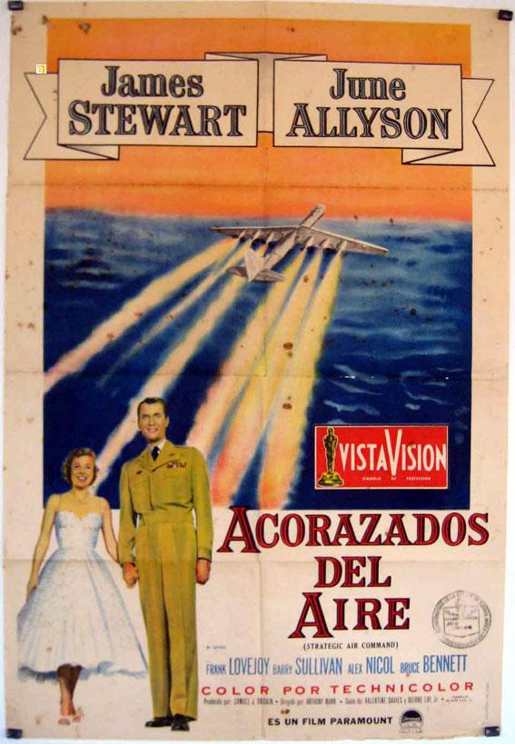 STRATEGIC AIR COMMAND MOVIE POSTER/ACORAZADOS DEL AIRE/POSTER