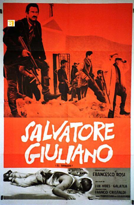 SALVATORE GIULIANO MOVIE POSTER/SALVATORE GIULIANO/POSTER SALVATORE GIULIANO - 1961, Dir: FRANCESCO ROSI, Cast: FRANCO CRISTALDI, , , Nac. film: ITALIA, Company: , Designer: , , Nac. poster: ARGENTINA, Measur