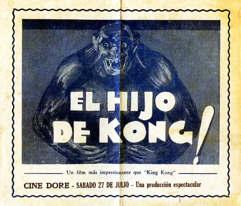 SON OF KONG MOVIE POSTER/EL HIJO DE KONG/HERALD