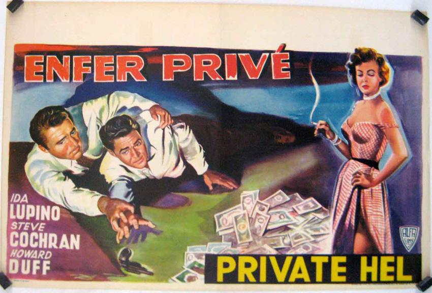 PRIVATE HELL 36 MOVIE POSTER/ENFER PRIVE/POSTER