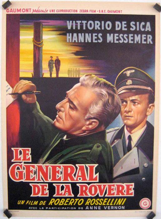 IL GENERALE DELLA ROVERE MOVIE POSTER/LE GENERAL DE LA ROVERE/POSTER