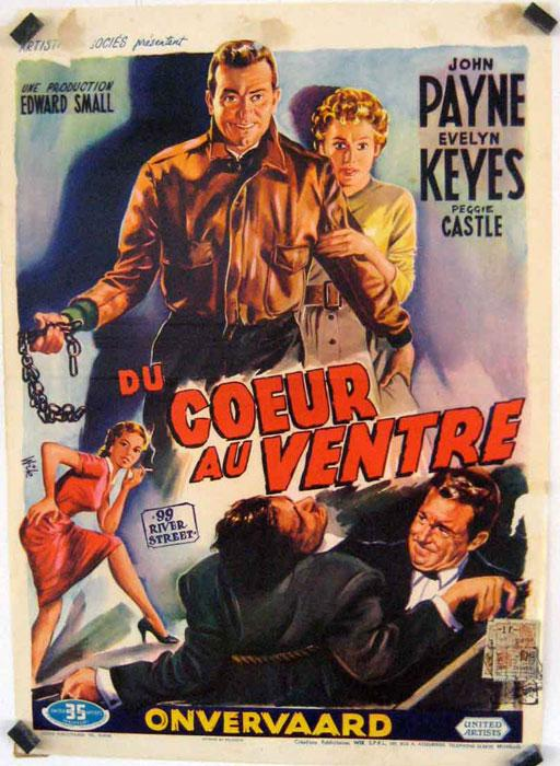 99 RIVER STREET MOVIE POSTER/DU COEUR AU VENTRE/POSTER