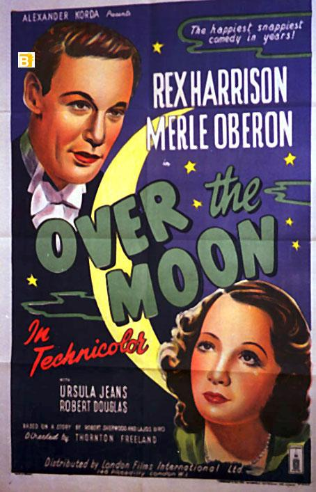 Over the moon Rex Harrison vintage movie poster