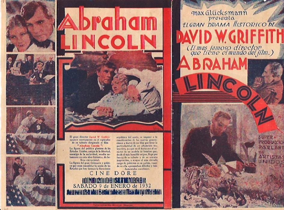 ABRAHAM LINCOLN MOVIE POSTER/ABRAHAM LINCOLN/HERALD
