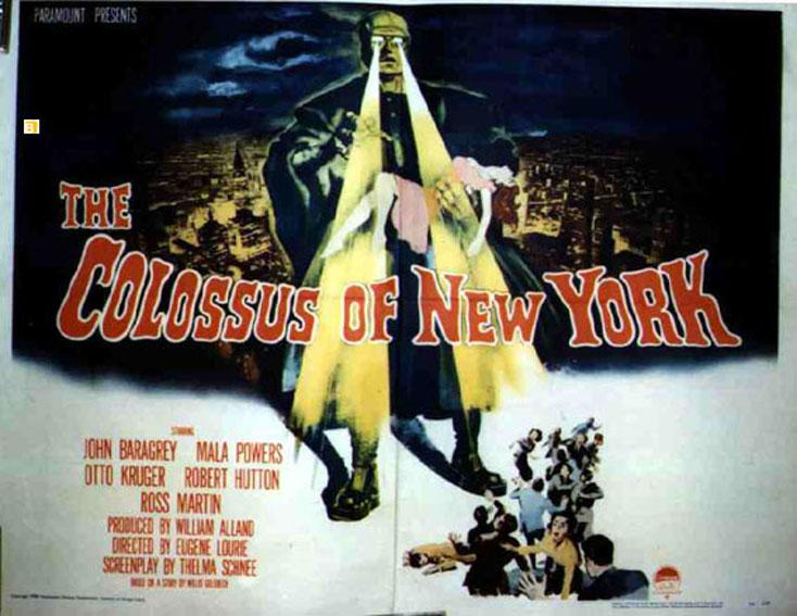 THE COLOSSUS OF NEW YORK MOVIE POSTER/COLOSSUS OF NEW YORK, THE/POSTER