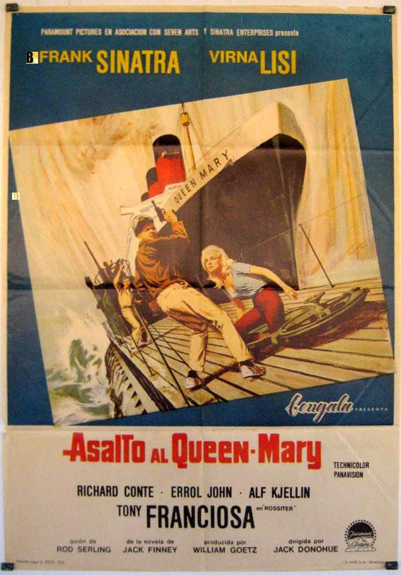 ASSAULT ON A QUEEN MOVIE POSTER/ASALTO AL QUEEN MARY/POSTER