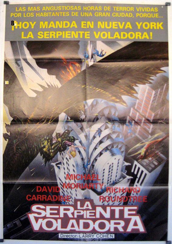 Q, THE WINGED SERPENT MOVIE POSTER/SERPIENTE VOLADORA, LA/POSTER