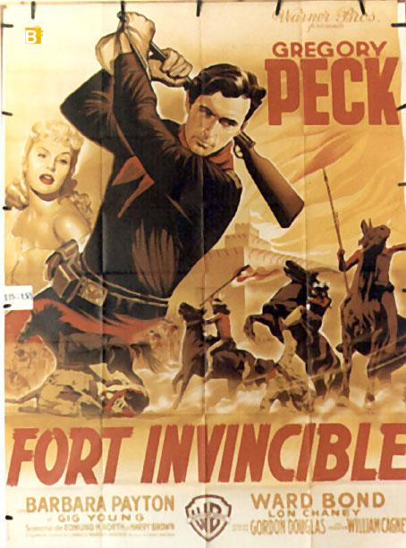 ONLY THE VALIANT MOVIE POSTER/FORT INVINCIBLE/POSTER