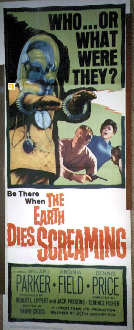 THE EARTH DIES SCREAMING MOVIE POSTER/EARTH DIES SCREAMING, THE/POSTER