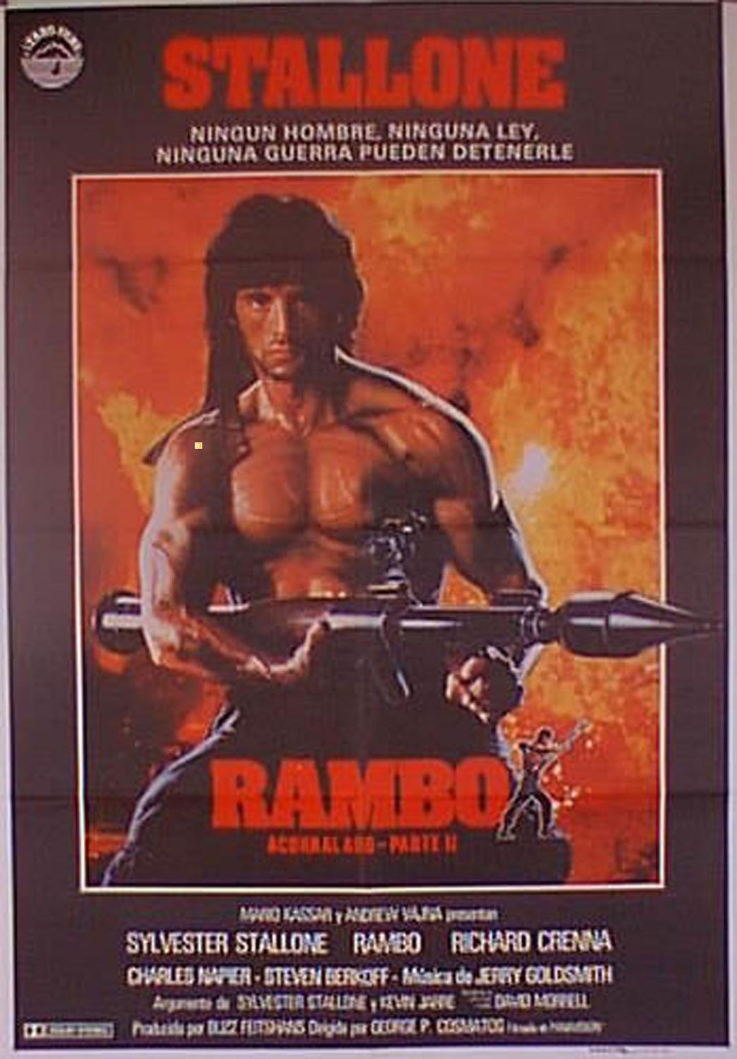 RAMBO, FIRST BLOOD, PART TWO MOVIE POSTER/RAMBO/POSTER