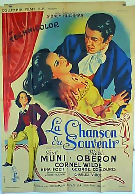 A song to remember Paul Muni Movie poster print