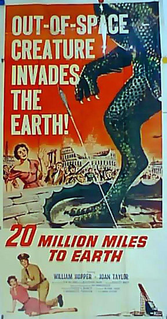 20 MILLION MILES TO EARTH MOVIE POSTER/20 MILLION MILES TO EARTH/POSTER