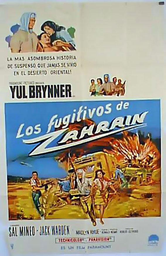 ESCAPE FROM ZAHARIN MOVIE POSTER/LOS FUGITIVOS DE ZAHRAIN/POSTER