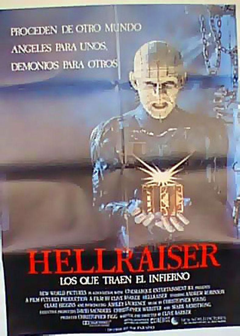 HELLRAISER MOVIE POSTER/HELLRAISER/POSTER