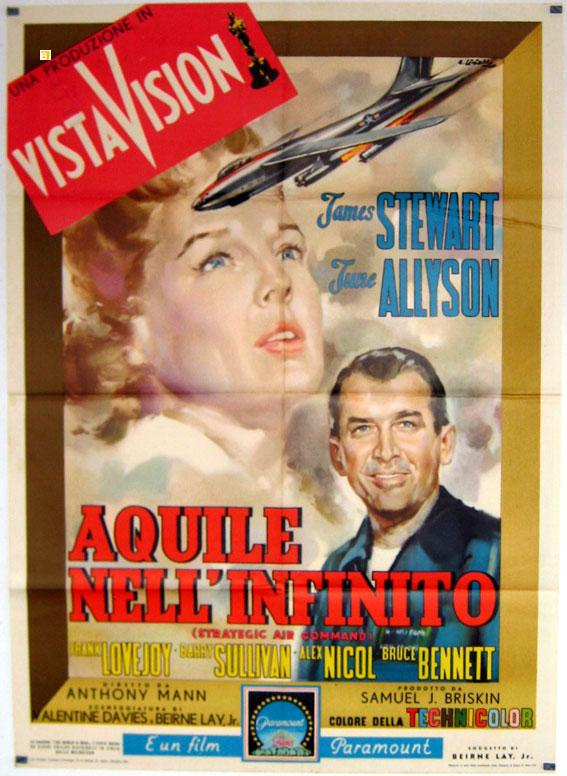 STRATEGIC AIR COMMAND MOVIE POSTER/AQUILE NELL'INFINITO/POSTER