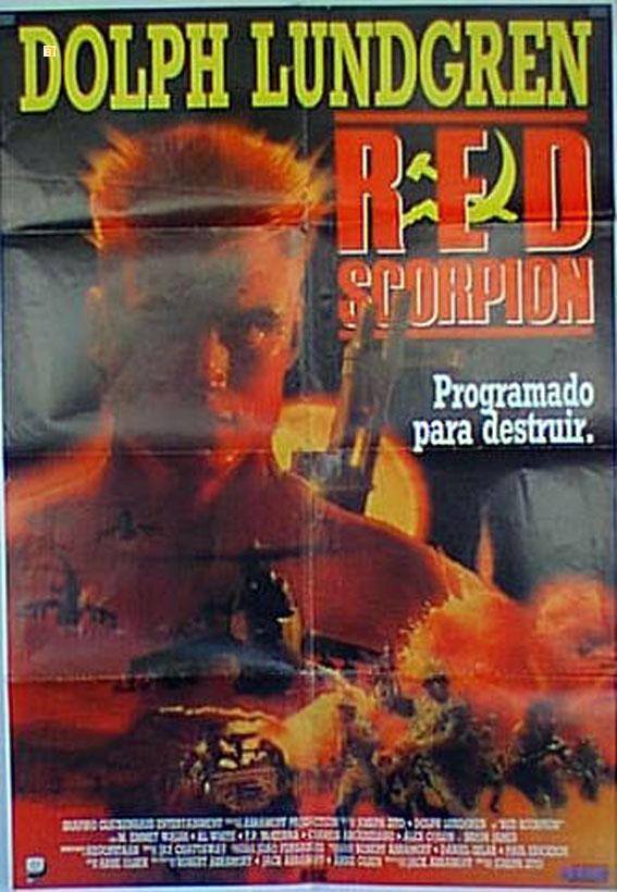 RED SCORPION MOVIE POSTER/RED SCORPION, PROGRAMADO PARA DESTRUIR/POSTER